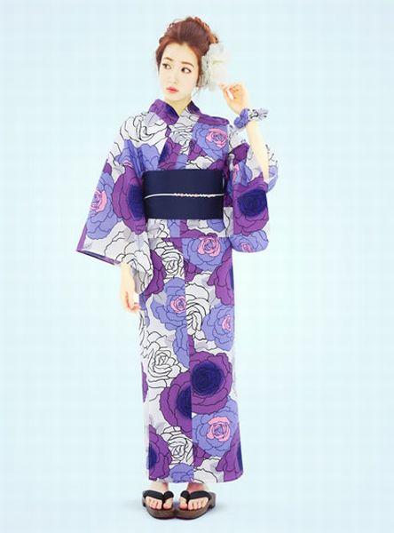<<【浴衣の柄の種類】白や紫色の美しい花を咲かせる「牡丹柄」の特徴>>